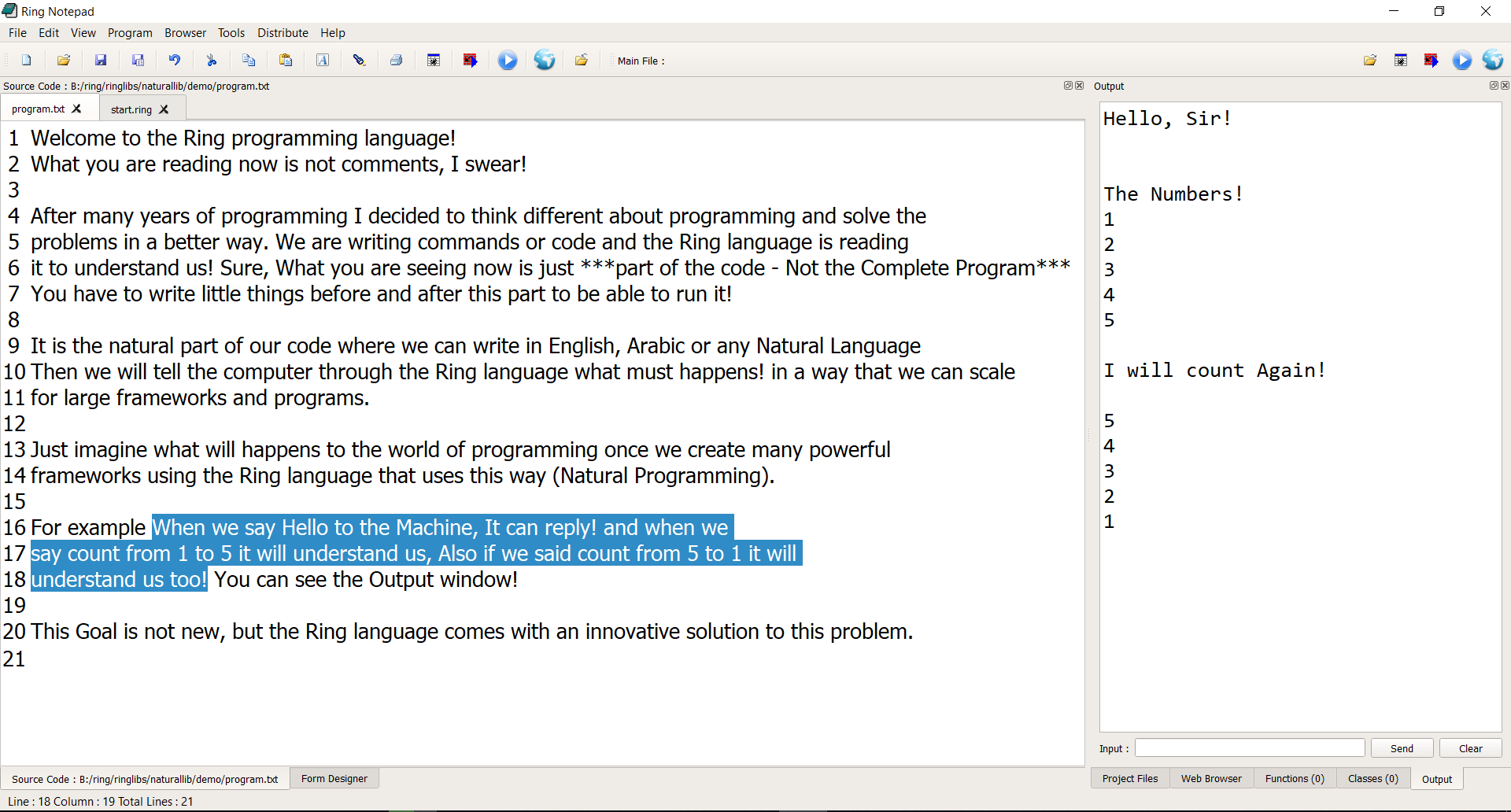 The Ring Programming Language